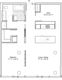 floorplan for 1 Grand Army Plaza #7F