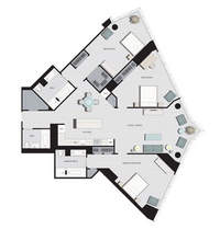 floorplan for 77 Hudson Street #D5