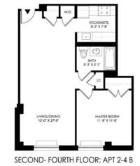 floorplan for 2021 First Avenue #3B