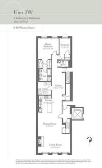 floorplan for 8 Warren Street #2WEST
