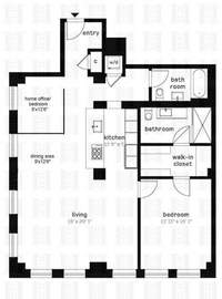 floorplan for 420 West 25th Street #6H