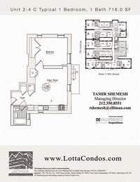 floorplan for 159 West 118th Street #3C