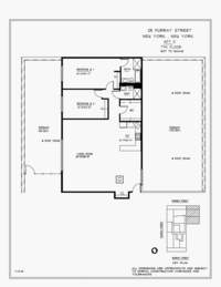 floorplan for 25 Murray Street #7G