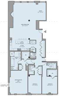 floorplan for 32 West 18th Street #2B