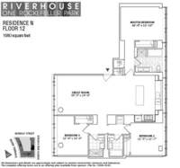 floorplan for 1 River Terrace #12N