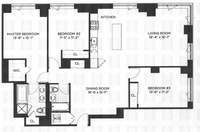 floorplan for 100 Jay Street #24F