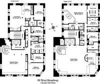 floorplan for 90 West Broadway #PH
