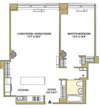floorplan for 252 Seventh Avenue #11Y