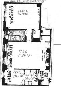 floorplan for 205 East 78th Street #5K