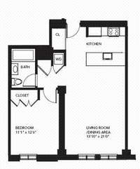 floorplan for 85 Adams Street #14B