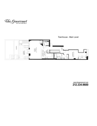 floorplan for 325 West 13th Street #TH