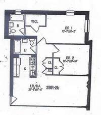 floorplan for 1831 Madison Avenue #7L