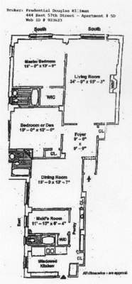 floorplan for 444 East 57th Street