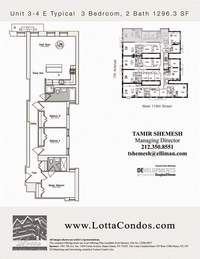 floorplan for 159 West 118th Street #3E