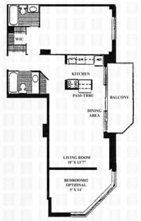 floorplan for 50 Lexington Avenue #4E