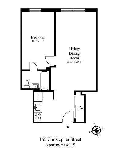 StreetEasy: 165 Christopher St. #LS - Co-op Apartment Sale in West Village, Manhattan