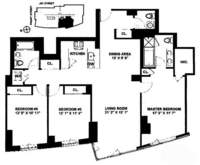floorplan for 100 Jay Street #21H