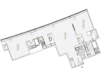 floorplan for 1 River Terrace #3S