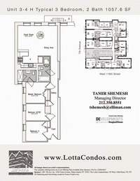 floorplan for 159 West 118th Street #3H