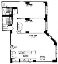 floorplan for 401 East 74th Street #17D