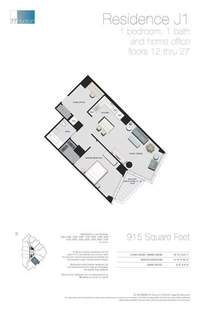 floorplan for 77 - Hudson Street #2509