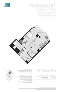 floorplan for 77 - Hudson Street #1505