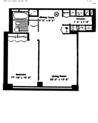 floorplan for 61 West 62nd Street #9H