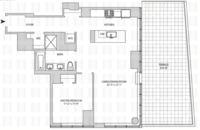 floorplan for 164 Kent Avenue #6G