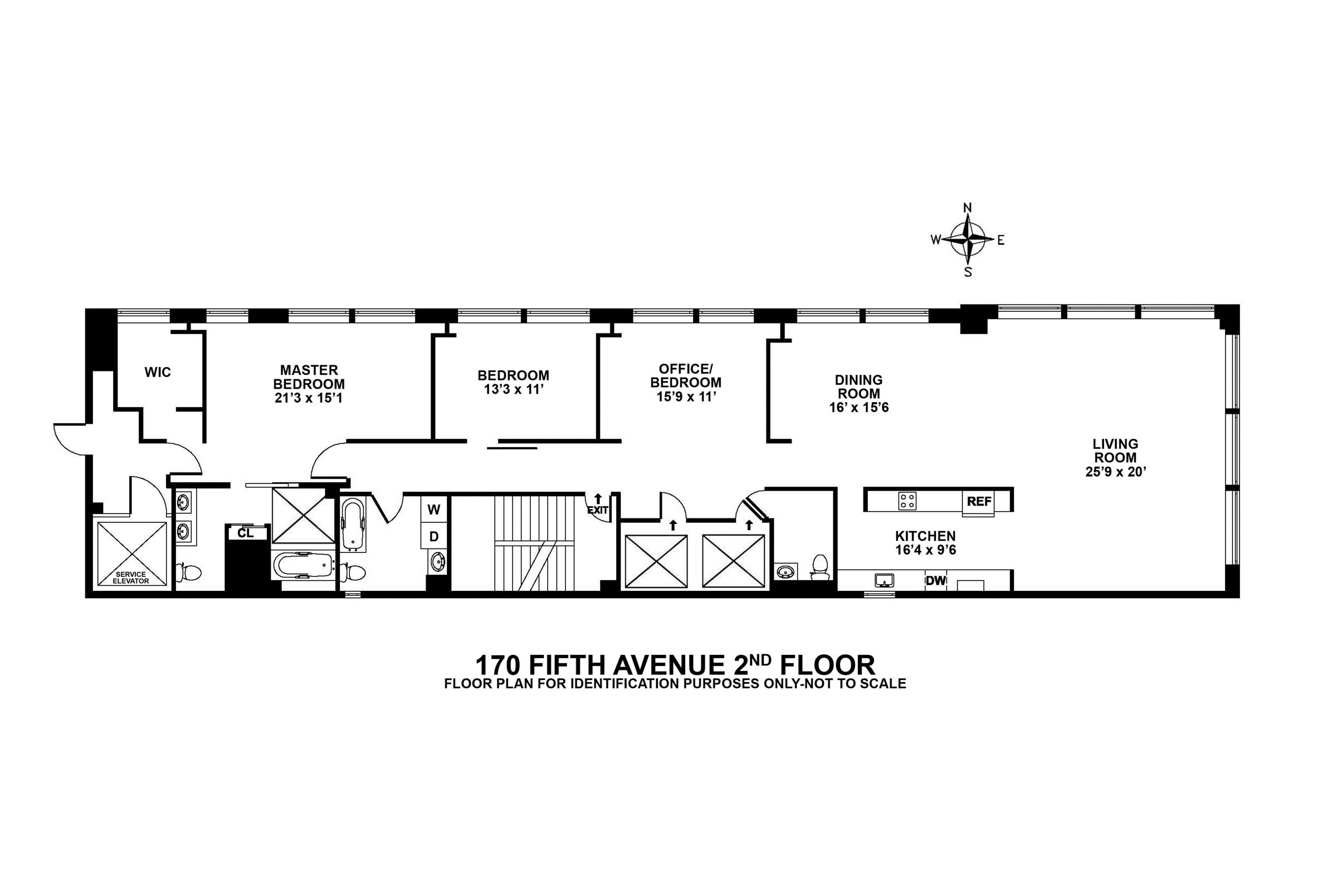 Long narrow apartment floor plans gurus floor for Narrow apartment plans